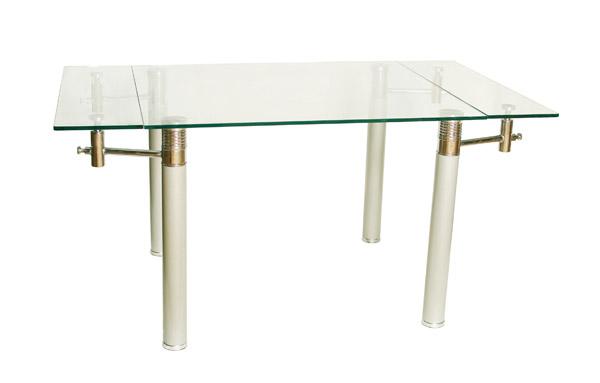 стол стеклянный раздвижной L-1